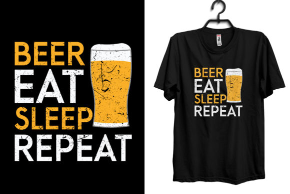Beer Eat Sleep Repeat Grafik Druck-Templates von Storm Brain