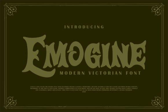 Print on Demand: Emogine Display Font By Vunira