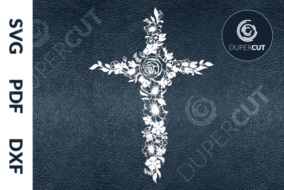 Flower Cross Graphic Illustrations By DuperCut