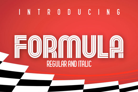 Print on Demand: Formula Display Font By vladimirnikolic