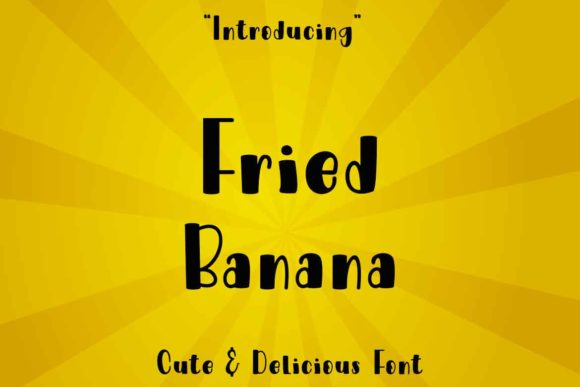 Print on Demand: Fried Banana Display Font By Supersemar Letter
