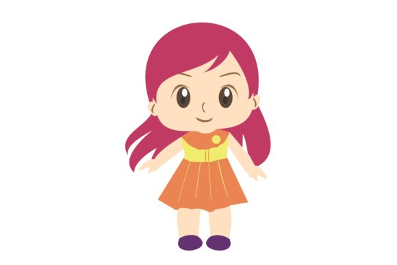 Girl Chibi Character Vector 12 Graphic Illustrations By harunikaart