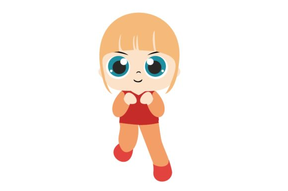 Girl Chibi Character Vector 14 Graphic Illustrations By harunikaart
