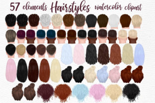 Print on Demand: Hairstyles Clipart, Fashion Hairstyle Graphic Illustrations By LeCoqDesign 1