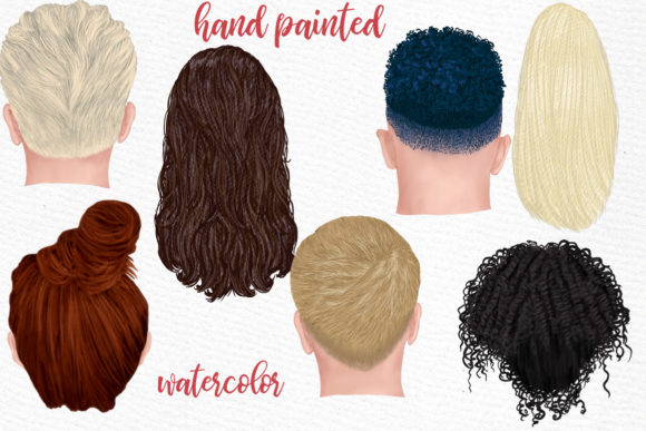 Hairstyles Clipart, Fashion Hairstyle Graphic Download