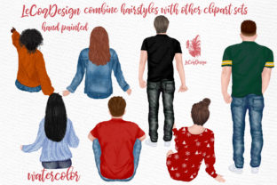 Print on Demand: Hairstyles Clipart, Fashion Hairstyle Graphic Illustrations By LeCoqDesign 3