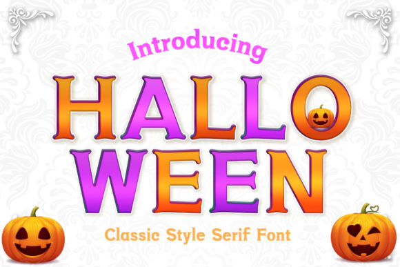 Print on Demand: Halloween Serif Font By numnim