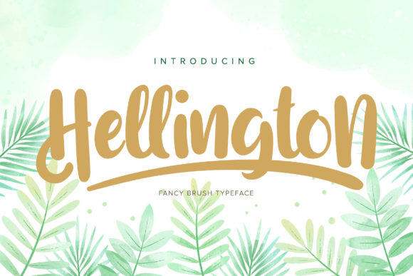 Print on Demand: Hellington Script & Handwritten Font By Vunira