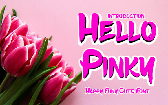 Print on Demand: Hello Pinky Display Font By K_IN Studio