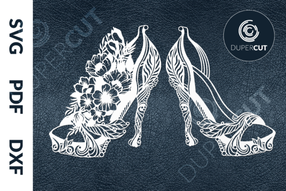 High Heels with Flowers Graphic Illustrations By DuperCut