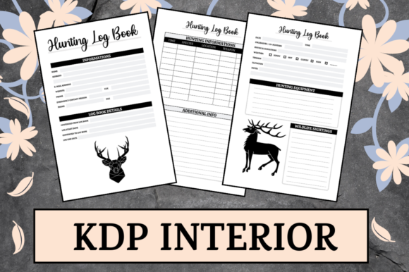 Print on Demand: Hunting Log Book | KDP Interior Graphic KDP Interiors By KDP Mastermind