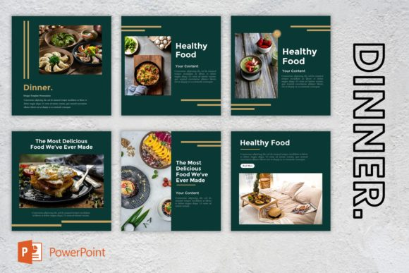 Instagram Feed - Dinner Graphic Presentation Templates By listulabs