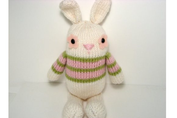 Jelly Bean Bunny Knit Pattern Graphic Knitting Patterns By Amy Gaines Amigurumi Patterns - Image 1
