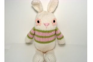 Jelly Bean Bunny Knit Pattern Graphic Knitting Patterns By Amy Gaines Amigurumi Patterns