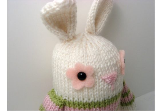Jelly Bean Bunny Knit Pattern Graphic Knitting Patterns By Amy Gaines Amigurumi Patterns - Image 2
