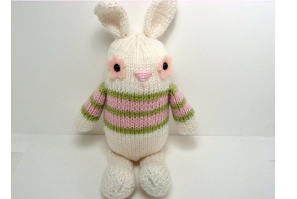 Jelly Bean Bunny Knit Pattern Graphic Knitting Patterns By Amy Gaines Amigurumi Patterns - Image 3