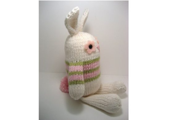 Jelly Bean Bunny Knit Pattern Graphic Knitting Patterns By Amy Gaines Amigurumi Patterns - Image 4