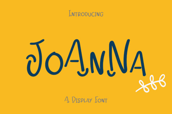 Print on Demand: Joanna Display Font By Wanida Toffy