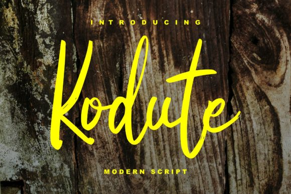 Print on Demand: Kodute Script & Handwritten Font By Vunira