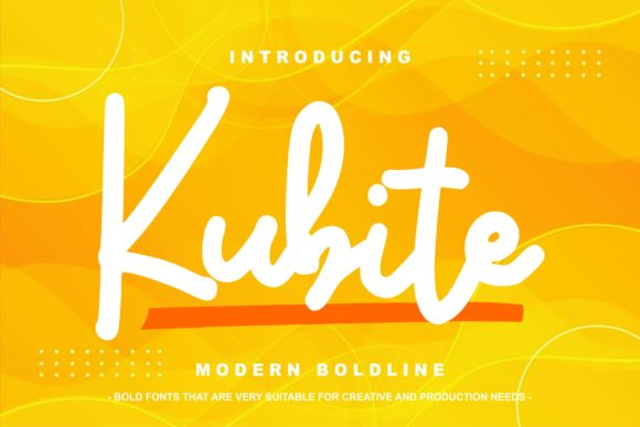 Print on Demand: Kubite Script & Handwritten Font By Vunira