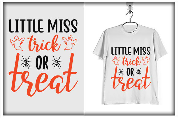 Print on Demand: Little Miss Trick or Treat Graphic Print Templates By svg_hut