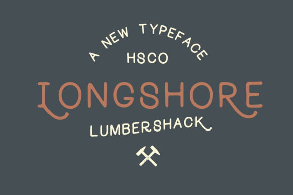 Print on Demand: Longshore Display Font By Hustle Supply Co.