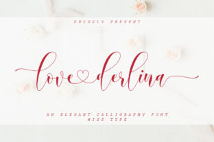Print on Demand: Love Derlina Script & Handwritten Font By IRF Lab Studio