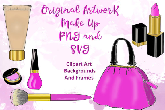 Print on Demand: Make Up Fashion Clipart Bundle Graphic Illustrations By The Paper Princess