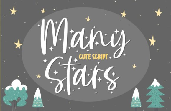 Print on Demand: Many Stars Script & Handwritten Font By Typefar