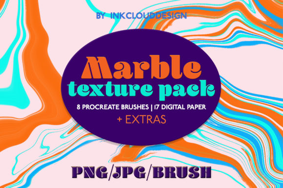 Print on Demand: Marble Textures Background   Procreate Graphic Brushes By Inkclouddesign