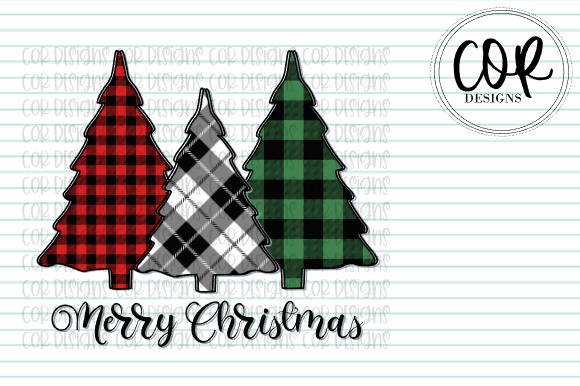 Print on Demand: Merry Christmas - Tree Trio Graphic Crafts By designscor
