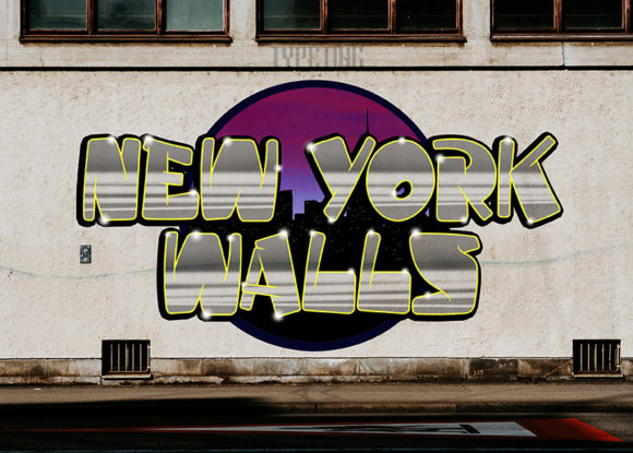 Print on Demand: New York Walls Display Font By Typeting Studio