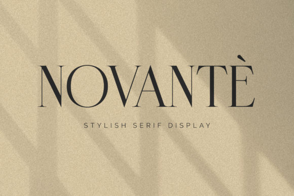 Print on Demand: Novante Serif Font By Arterfak Project