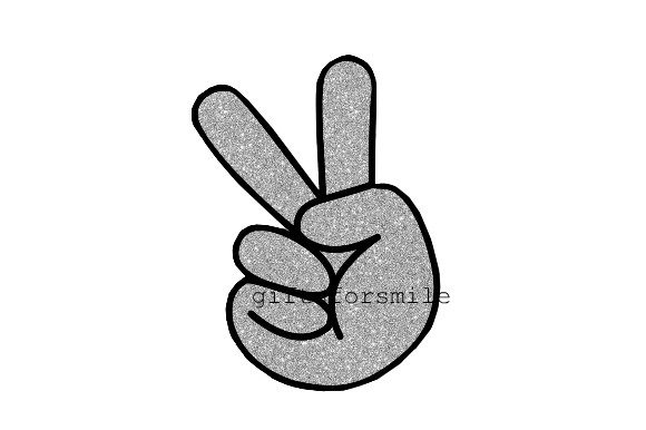 Peace Hand Sign Silver Graphic Print Templates By aarcee0027