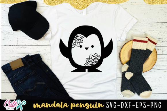 Penguin with Mandala Graphic Illustrations By Cute files