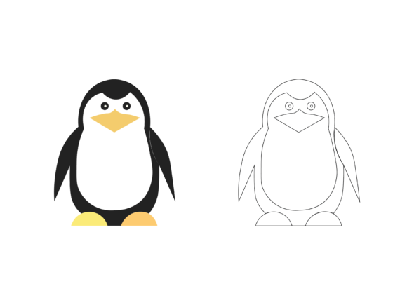 Penguins Coloring Kids Vector Graphic Icons By optimasipemetaanlokal