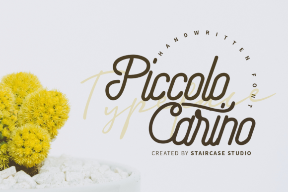 Print on Demand: Piccolo Carino Script & Handwritten Font By staircasestudio20
