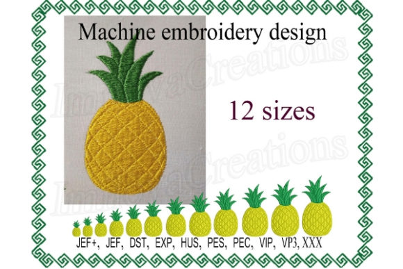 Pineapple Food & Dining Embroidery Design By ImilovaCreations - Image 1