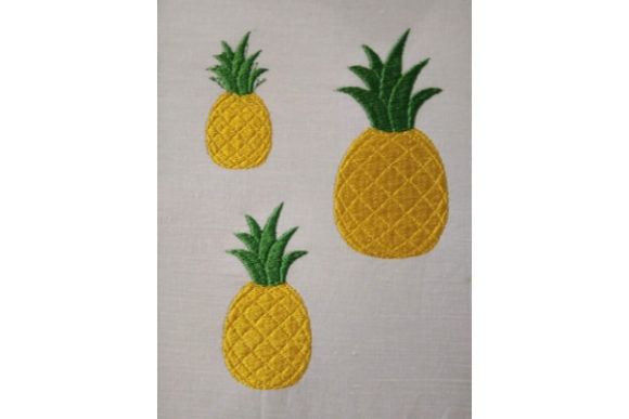 Pineapple Food & Dining Embroidery Design By ImilovaCreations - Image 3