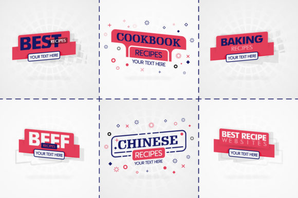 Pink Cooking Book Set for Food Recipe Grafik Druck-Templates von setiawanarief111