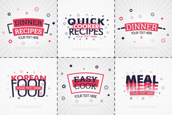 Pink Cooking Book Set for Food Recipe Graphic Print Templates By setiawanarief111