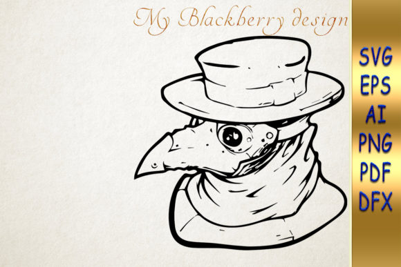 Print on Demand: Plague Doctor Clipart, Gothic Design Graphic Crafts By talanpluss
