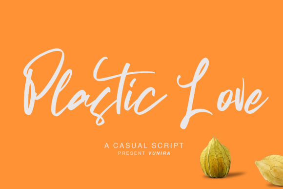 Print on Demand: Plastic Love Script & Handwritten Font By Vunira