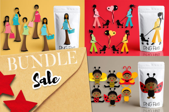 Print on Demand: Pregnant Woman Baby Bundle Graphic Illustrations By Revidevi