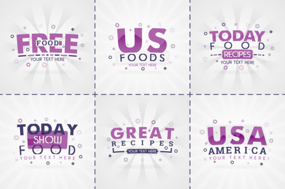 Print on Demand: Purple Cooking Book Set for Food Recipe Graphic Print Templates By setiawanarief111