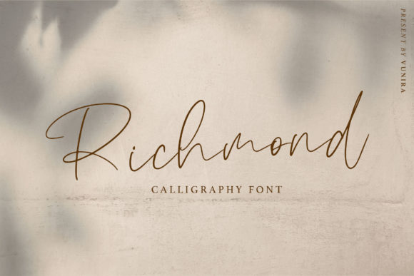 Print on Demand: Richmond Script & Handwritten Font By Vunira