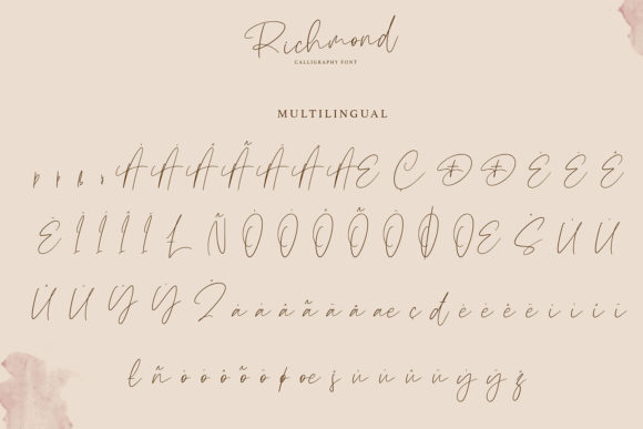 Richmond Font Design Item