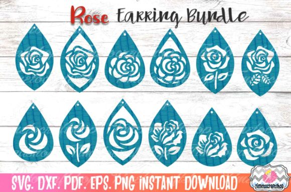 Rose Earring Bundle Graphic Crafts By Timetocraftshop