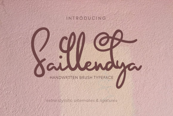Print on Demand: Saillendya Script & Handwritten Font By Vunira
