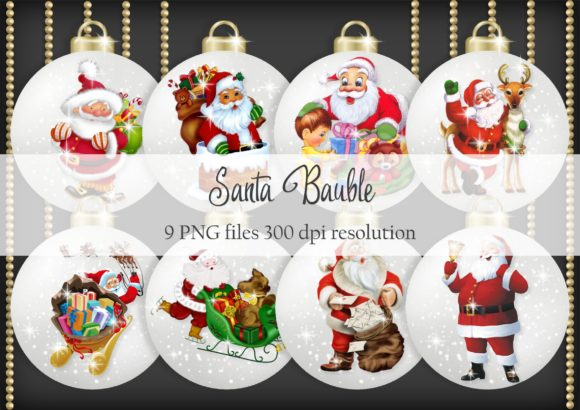 Print on Demand: Santa Bauble Graphic Objects By Simply Paper Craft